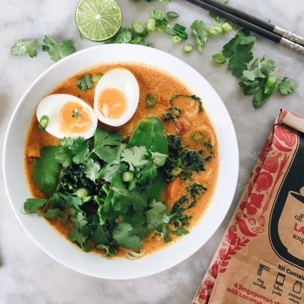 Laksa soup: a vibrant flavour bomb
