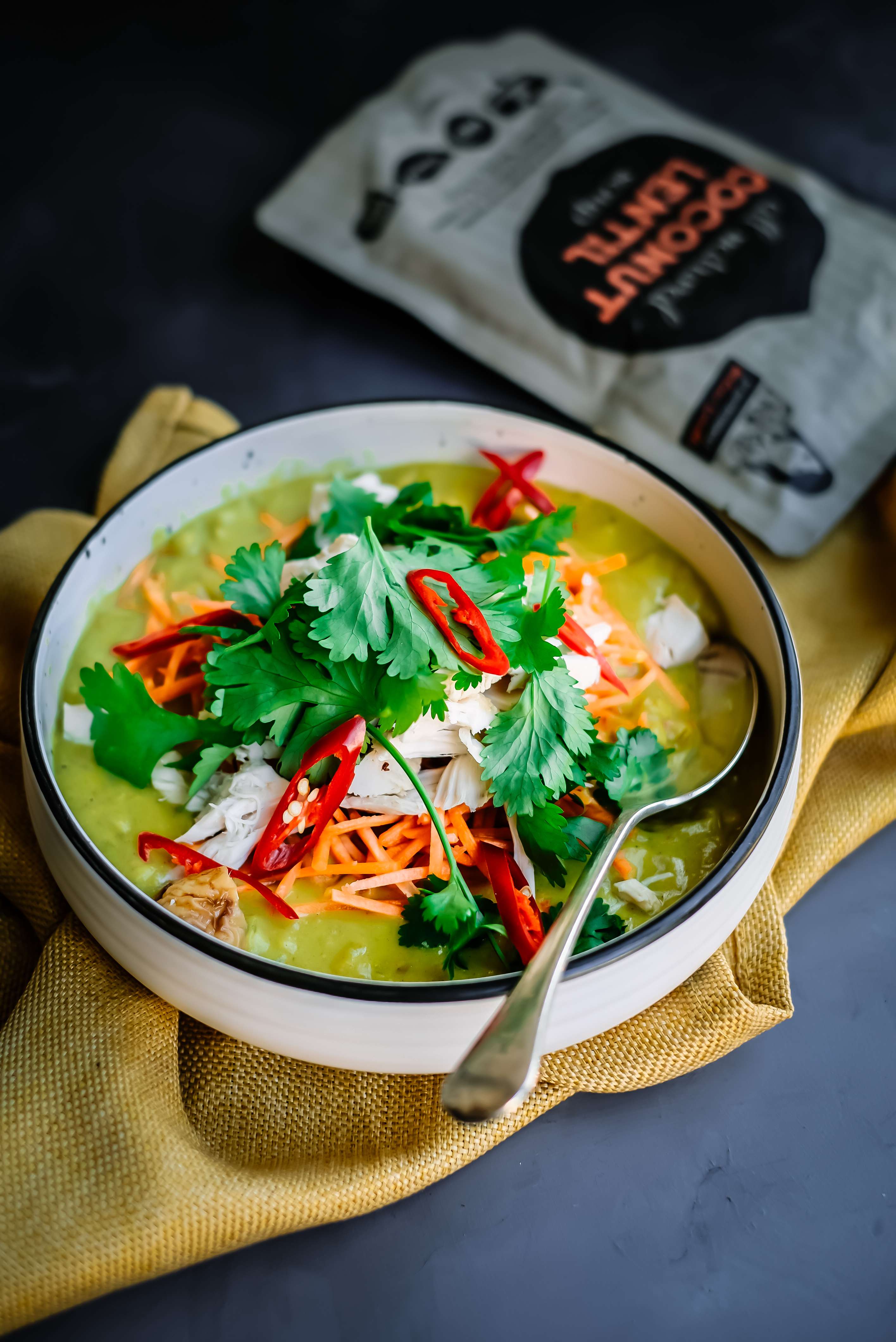 COCONUT LENTIL CHICKEN CURRY